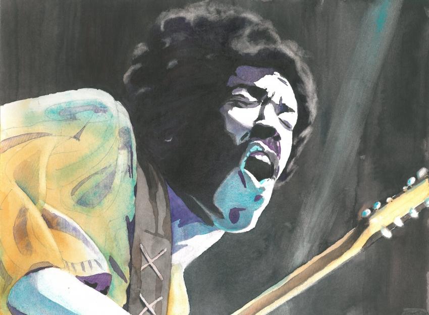 Jimi Hendrix by JerDo